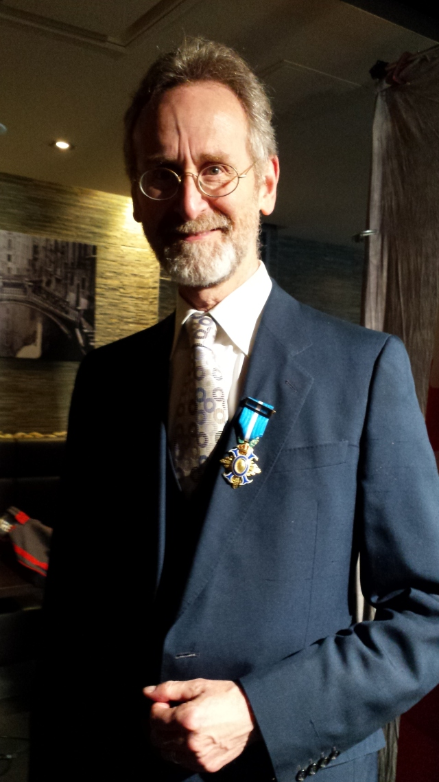 Brown Barry and his Officer's Cross of the Order of Civil Merit